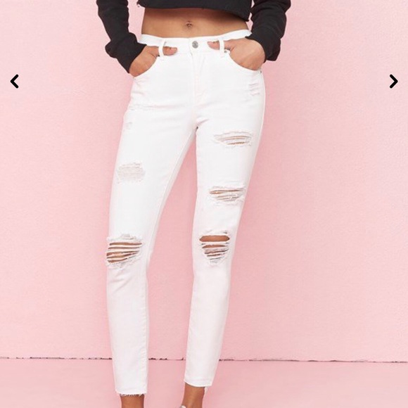 White Garage High Waisted Jeans Size 11